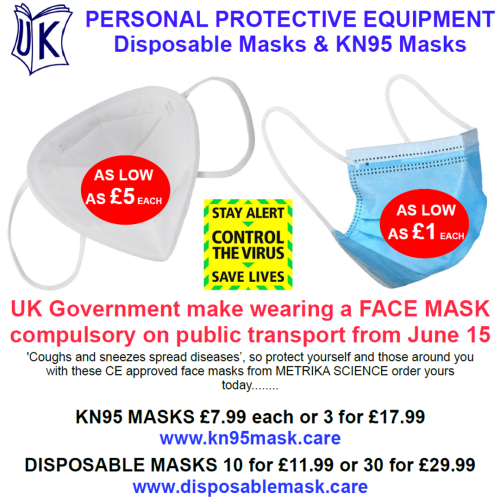 UK Government announces face masks will be compulsory on public transport from 15 June 2020